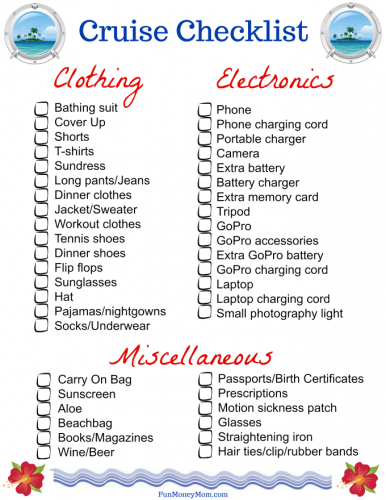 This is an image of Printable Cruise Packing List with regard to vacation template