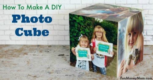 DIY photo cube
