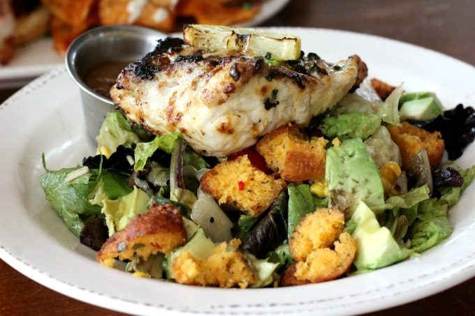 The harvest salad with grouper was delicious