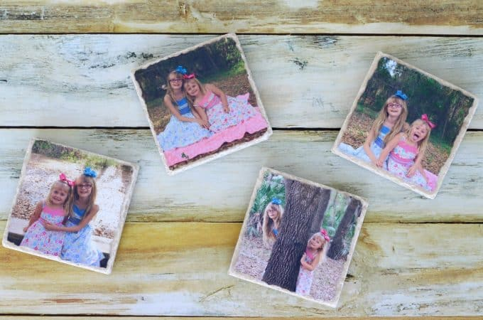 Easy photo coasters feature