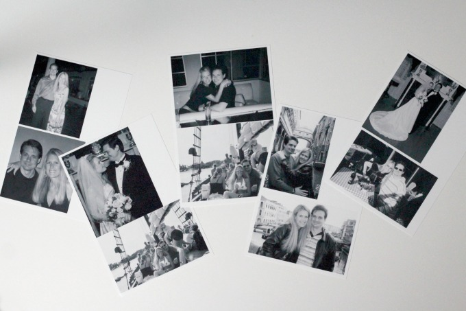 Select the photos you want for your DIY wall art.