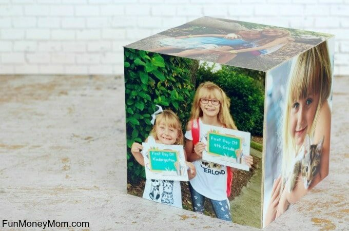 DIY PHoto Cube feature