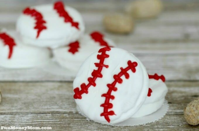 White Chocolate Baseball Cookies