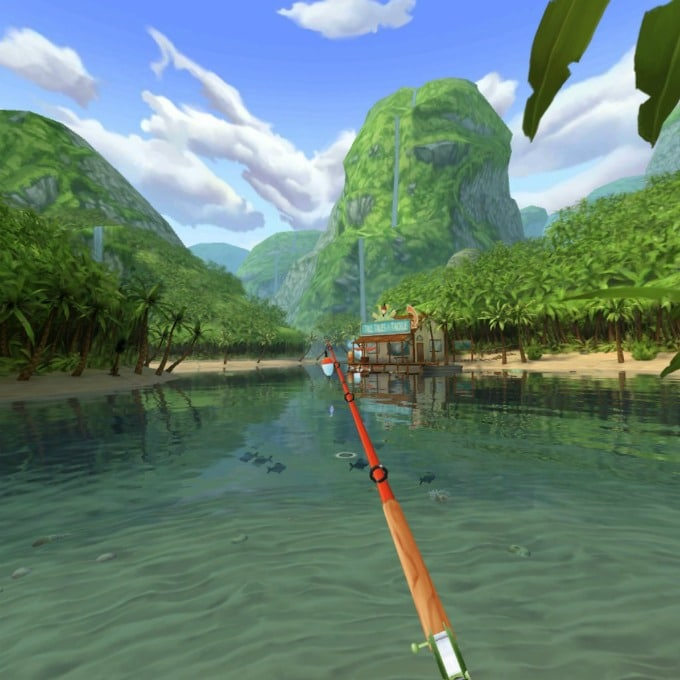 A fun game that involves fishing is one of the new experiences in virtual reality
