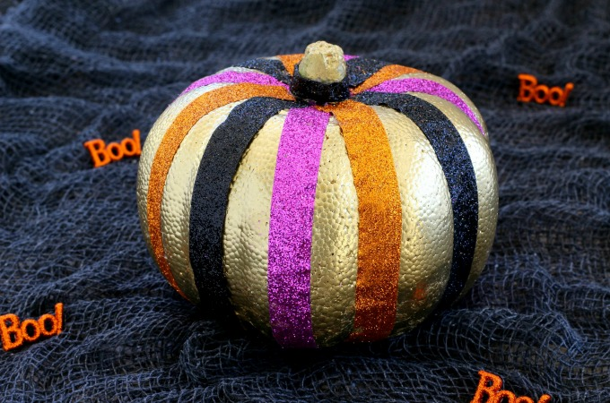 Sparkly no carve pumpkin ideas