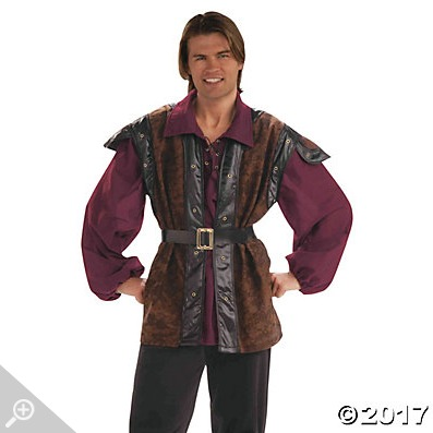 Flynn Rider is one of the easy Halloween costumes we made with costumes we found at Oriental Trading