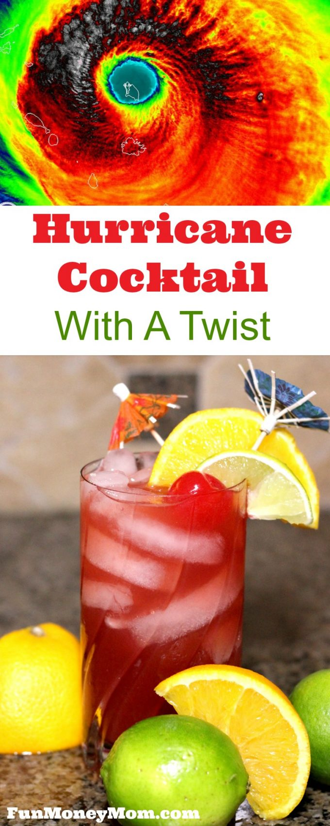 What do you do when the biggest hurricane in the history of hurricanes is heading straight towards your house and husband? You make Hurricane cocktails, of course!