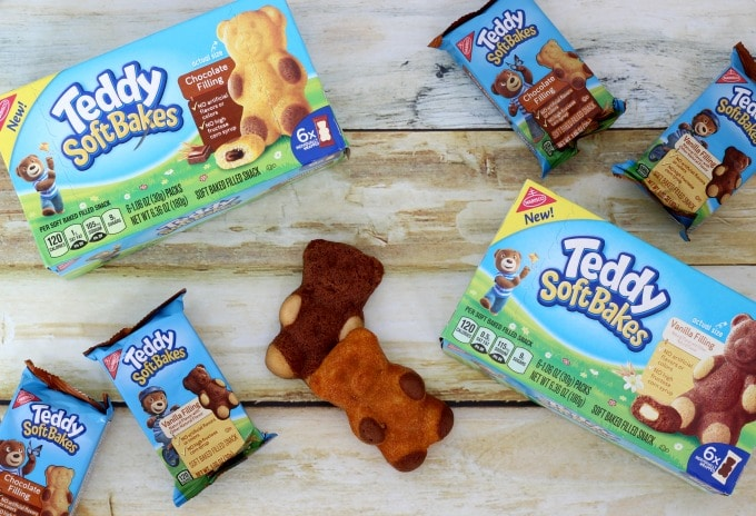 Teddy Soft Baked Filled Snacks come with two delicious fillings