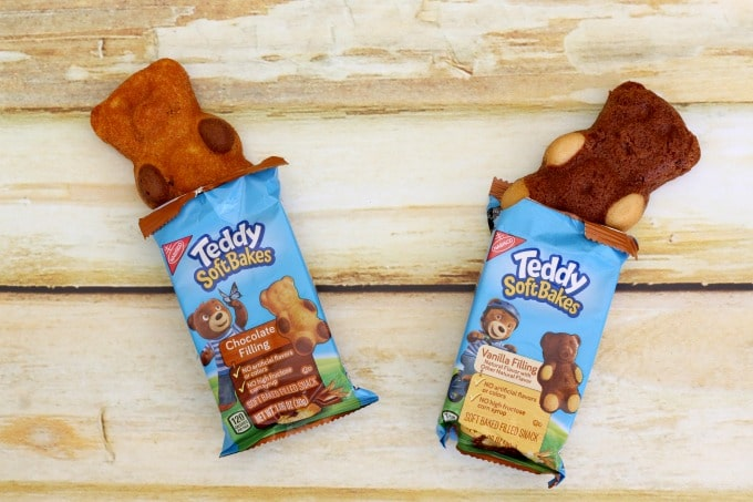 Teddy Soft Baked Filled Snacks are easy for on the go