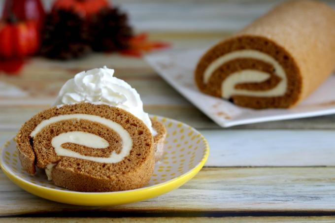 You'll still have plenty of pumpkin cake roll left over