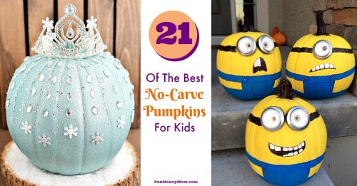 No carve pumpkins for kids