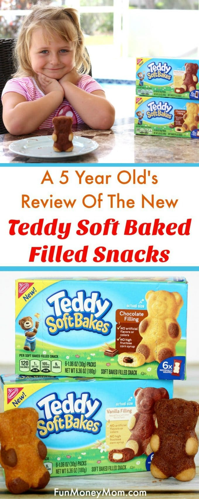 Looking for some new snack options for the kids? Find out what my daughter thought of the new TEDDY SOFT BAKED Filled Snacks in her very first full video review!