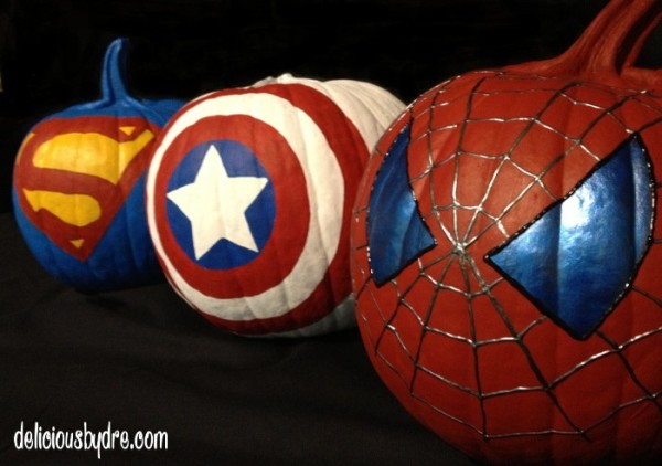 Superhero No Carve Pumpkins