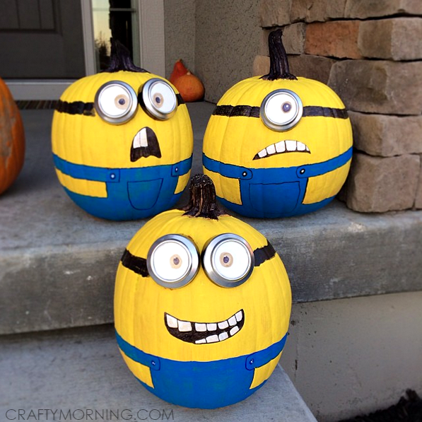 Minions No Carve Pumpkins