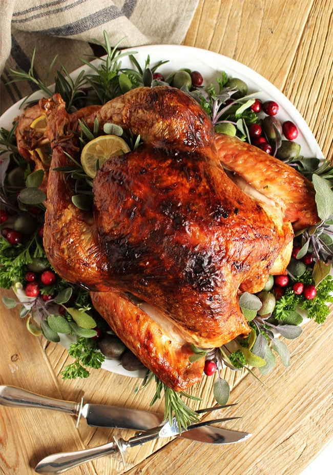 Thanksgiving turkey recipes - Citrus and Herb butter turkey