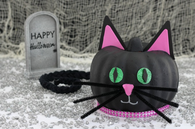 How To Make An Easy Black Cat Pumpkin For Halloween