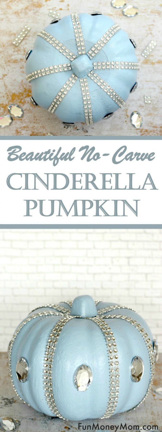 Love making Halloween decorations but want to do something a little different this year? Why not make a Disney inspired no carve Cinderella pumpkin!