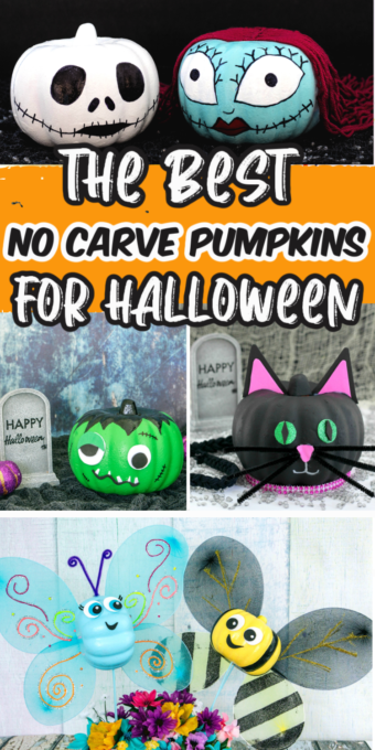 Ideas for no carve pumpkins