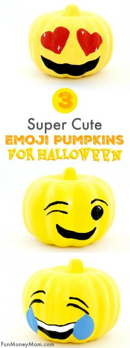 If your kids love emojis as much as mine do, they'll have a blast making their own emoji pumpkins! These cute no carve pumpkins are the perfect Halloween craft for kids!