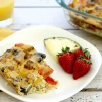 Fajita Breakfast Casserole With Sausage, Onions And Peppers