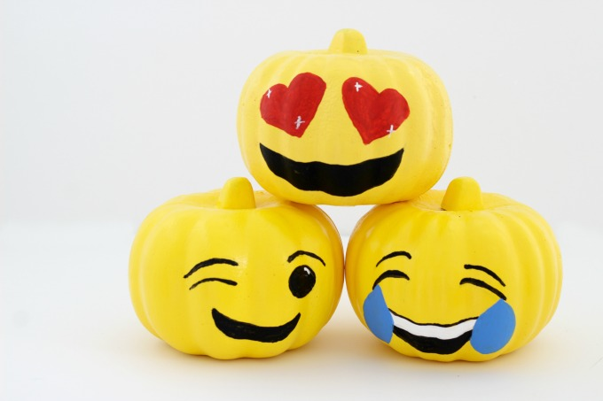 These emoji pumpkins were so easy and fun