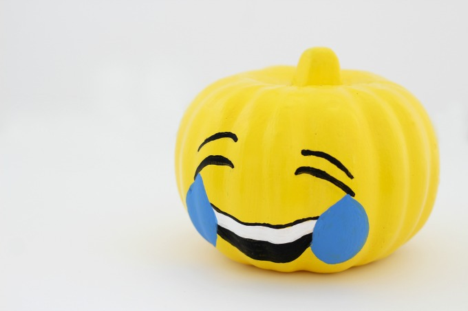 This emoji looks pretty happy to me