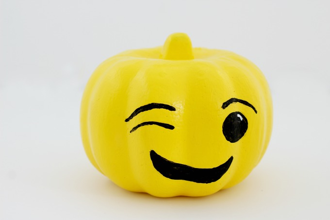 "I knew the ""winky"" face had to be one of my emoji pumpkins"