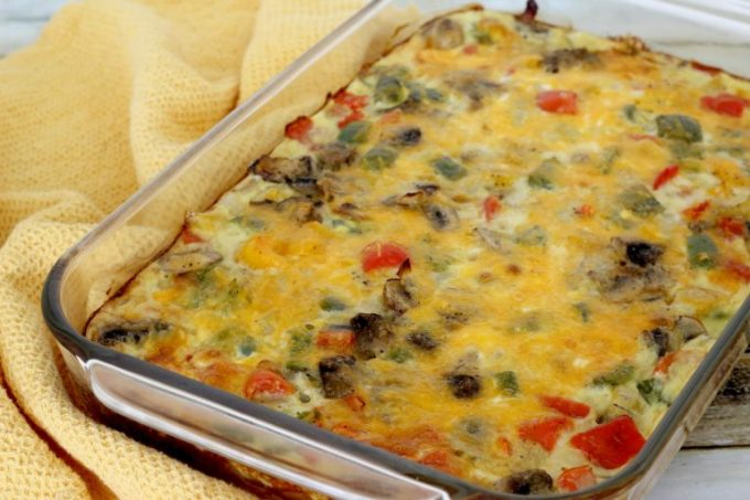 Bake for 40-45 minutes, then your Fajita Breakfast Casserole should be ready to eat.