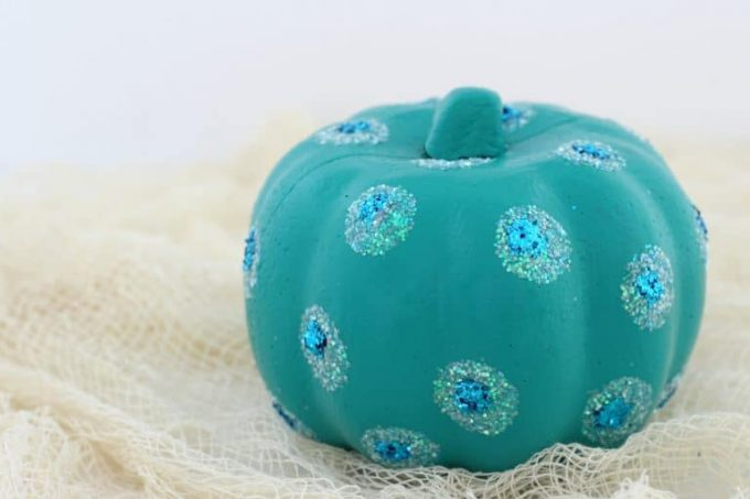 Our teal pumpkin turned out great and supports a worthy cause.