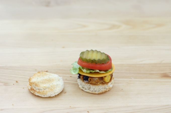 You'll need a pickle for your mini veggie burger
