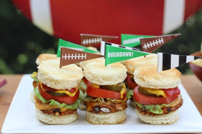 These mini veggie burgers will be a hit at any party