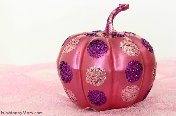 Metallic Polka Dot Halloween Pumpkin