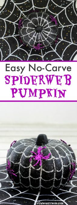 This easy no-carve Spiderweb Pumpkin makes the perfect Halloween decor. Find out why it's even better after you totally screw it up!