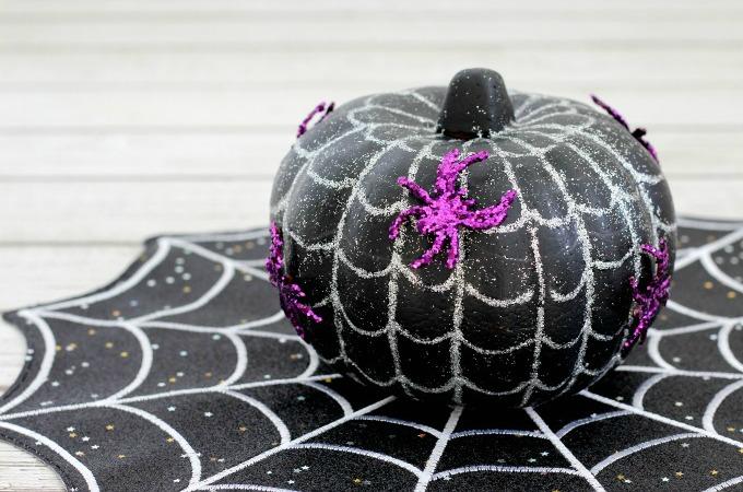 Spiderweb no carve pumpkin ideas