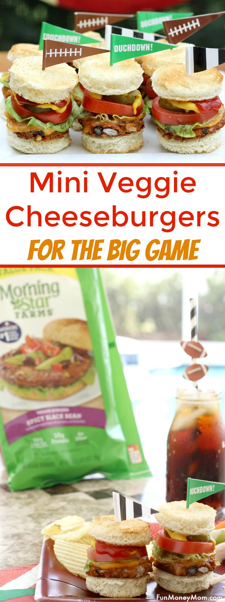 Need a delicious recipe for watching the big game? You don't have to be a vegetarian to love these mini veggie cheeseburgers. Made with black bean burgers, they'll be a hit with the whole family!
