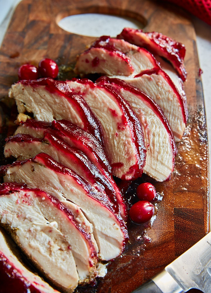Thanksgiving turkey recipes - cranberry glazed turkey