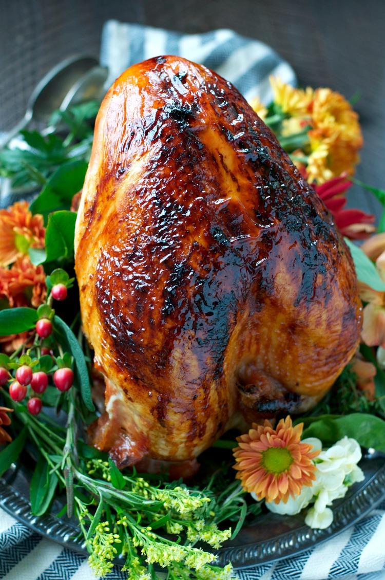 Thanksgiving turkey recipes - Maple Glazed Roasted Turkey