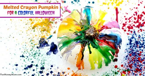 melted crayon pumpkin facebook