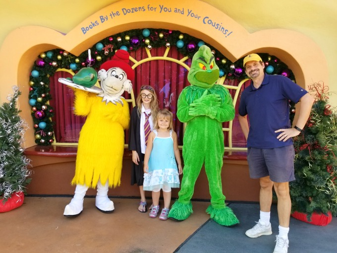 When you visit Universal Orlando Resort for Christmas, you may just run into the Grinch