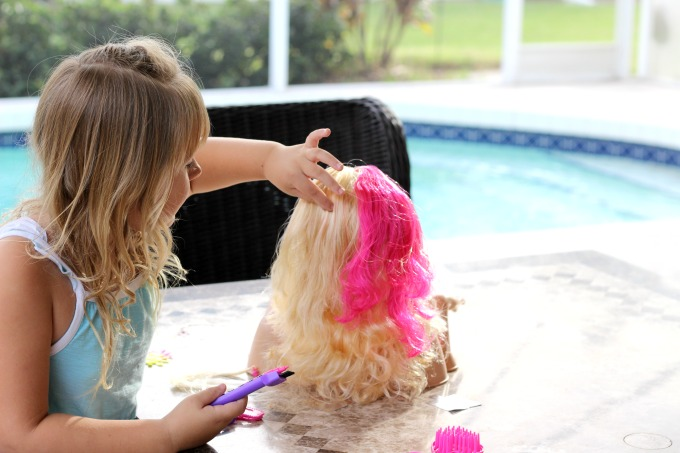 My daughter loved creating highlights in her Barbie's hair