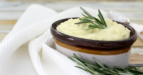 Rosemary Garlic Mashed Potatoes fb