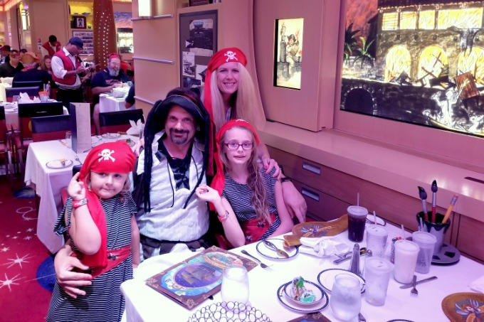 Take a Disney Cruise and dress up like a pirate for pirate night