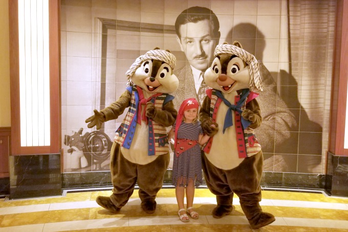 Meeting Disney characters is one of the things you can only do on a Disney cruise