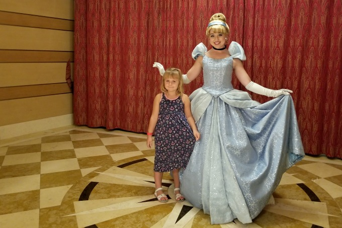 Another of the things you can only do on a Disney cruise is meet Cinderella