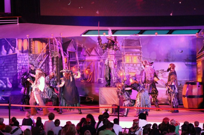 Another of the things you can only do on a Disney cruise is experience the pirate party