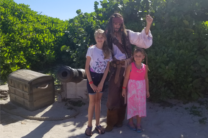 You never know who you'll run into on Castaway Cay