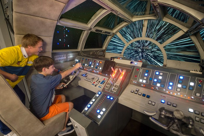 Kids can fly the Millenium Falcon in the Oceaneer Club