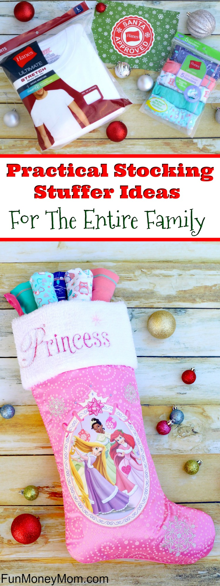 Looking for some practical stocking stuffer ideas? This year why not stuff stockings with great gifts that your family can actually use. #ad #HappyInHanes