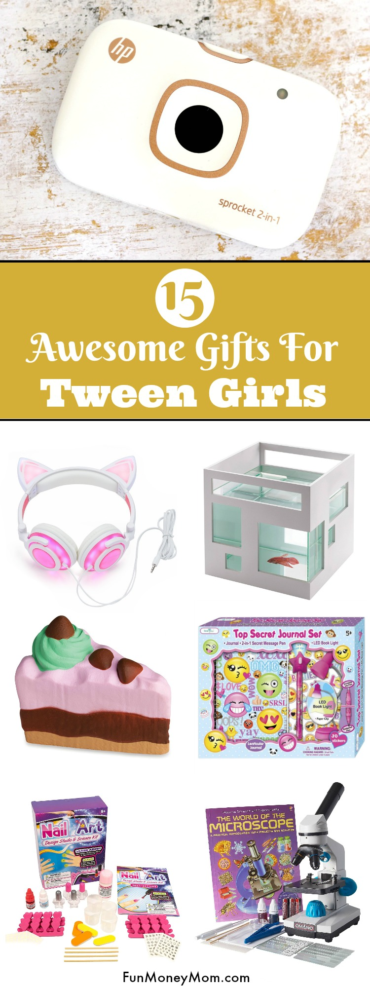 Christmas shopping for a tween? This fun gift guide features the perfect gifts for tween girls.