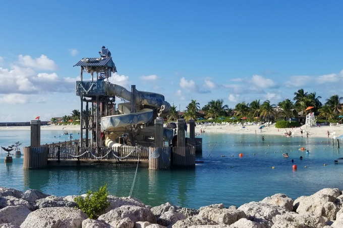 Kids can have fun on the waterslides at Castaway Cay